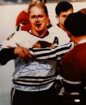 Bobby Hull Autographed 16x20 Blackhawks Bloody Face Photo w/ HOF and JSA W Auth
