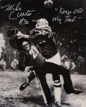 Mike Curtis Autographed 16x20 B&W Tackle Photo- JSA W Authenticated