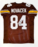 Jay Novacek Autographed Brown College Style Jersey- JSA Witnessed Auth