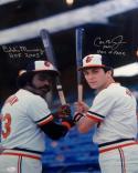Cal Ripken Jr Eddie Murray Signed Orioles 16x20 Photo W/ HOF- JSA W Auth