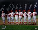 Cincinnati Big Red Machine Autographed 16x20 Starting 8 PF Photo- JSA W Auth